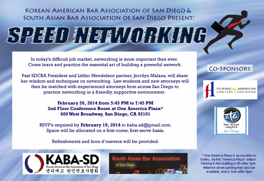 2014 KABA-SD & SABA-SD Speed Networking Event Flyer