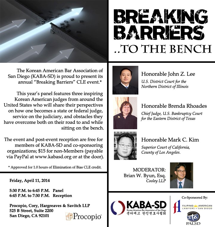 2014 KABA-SD Breaking Barriers CLE Flyer