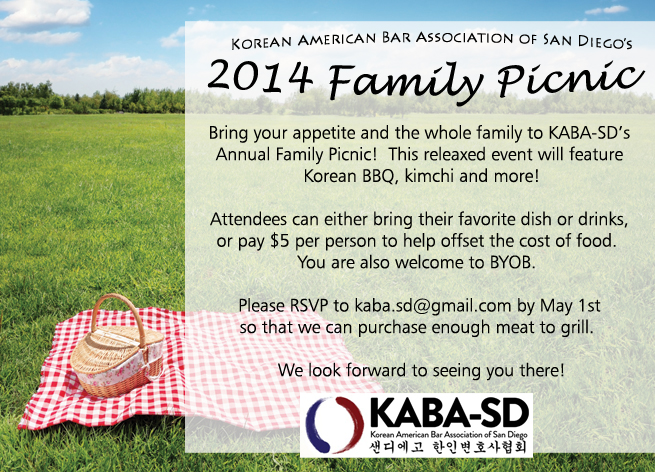 2014 KABA-SD Family Picnic Flyer