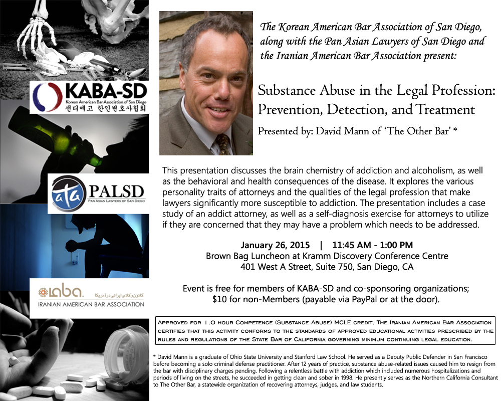 2015 KABA-SD Substance Abuse CLE Flyer